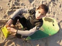 Bodyboard Junge Stockfoto