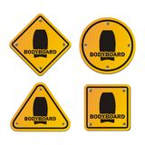 Bodyboard signs Stock Photos