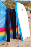 Bodyboard & wetsuit Royalty Free Stock Photo