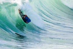 Bodyboarder в действии Стоковые Изображения RF