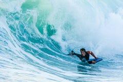 Bodyboarder в действии Стоковая Фотография