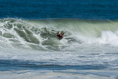 Bodyboarder in action Royalty Free Stock Images