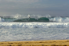 Bodyboarder, Banzai Pipeline, O'ahu's North Shore, Hawaii Royalty Free Stock Photo