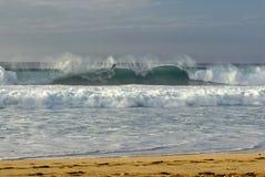 Bodyboarder Banzai Pipeline, O'ahus norr kust, Hawaii Royaltyfri Foto