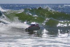 bodyboarder Cornwall przejażdżek fala Zdjęcia Royalty Free