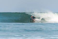 Bodyboarder na ação foto de stock royalty free