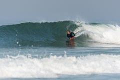 Bodyboarder na ação fotografia de stock royalty free