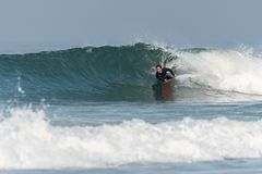 Bodyboarder na ação fotos de stock
