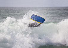 Bodyboarder On Top Of The Wave Royalty Free Stock Image