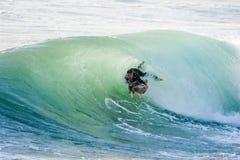 Free Bodyboarder Surfing Ocean Wave Stock Image - 126123451