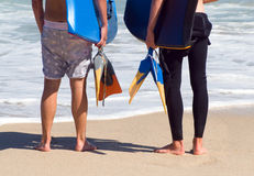 bodyboarding的体育运动水 免版税图库摄影