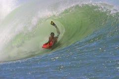 bodyboarding hawaii rörwave Royaltyfri Fotografi