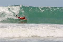 Bodyboarding in Thailand Stock Photo