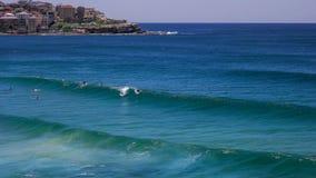 Bodyboardsurfer bij bondistrand in Sydney, Australië stock afbeeldingen