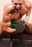 bodybuilder αρχάριος Στοκ Εικόνες