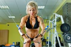 bodybuilder γυναίκα Στοκ Εικόνες