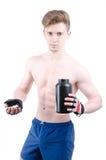 Bodybuilder και χάπια Μετά από να εκπαιδεύσει στοκ φωτογραφίες με δικαίωμα ελεύθερης χρήσης