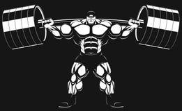 Bodybuilder με ένα barbell Στοκ Φωτογραφία