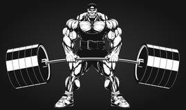 Bodybuilder με ένα barbell Στοκ Φωτογραφίες