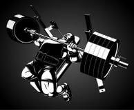 Bodybuilder με ένα barbell Στοκ Εικόνα