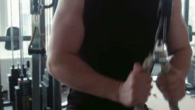 bodybuilder σκληροπυρηνική κατάρτιση γυμναστικής workout απόθεμα βίντεο