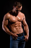 Bodybuilder. Stock Foto
