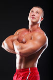 Bodybuilder Foto de Stock Royalty Free