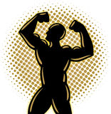 Bodybuilder. An illustration of a posing bodybuilder Royalty Free Stock Photo