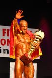 Bodybuilder. KOPER, SLOVENIA - OCTOBER 22: Velibor Obradovic win in IBFF Bodybuilding world championship over all category October 22, 2011 in Koper, Slovenia Stock Photography