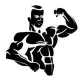 Bodybuilder lizenzfreie abbildung