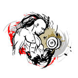 Bodybuilder illustration libre de droits