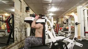 Bodybuilder stock video