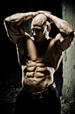Bodybuilder Abdominal Muscles Stock Photography