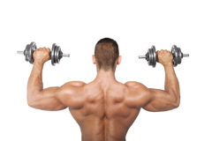 Bodybuilder back Stock Photo