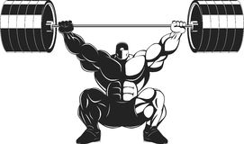 Bodybuilder with a barbell Royalty Free Stock Photography