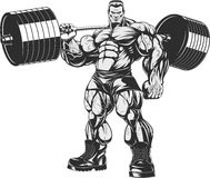 Bodybuilder with barbell Royalty Free Stock Images