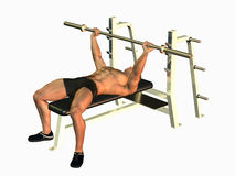 Bodybuilder bench pressing Royalty Free Stock Photo