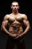 Bodybuilder with big veins. Stock Image
