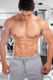 Bodybuilder bodybuilding muscles abs sixpack fitness gym strong Stock Photography