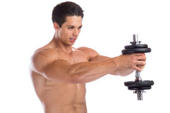 Bodybuilder bodybuilding muscles shoulder shoulders training str Stock Image