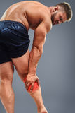 Bodybuilder Calf pain Stock Photography