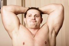 Bodybuilder cansado Imágenes de archivo libres de regalías