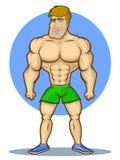 Bodybuilder Cartoon Character Stock Image