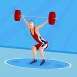Bodybuilder. Cartoon style bodybuilder in vector Royalty Free Stock Photography