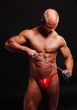 Bodybuilder with chain Stock Images