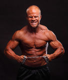 Bodybuilder with chain Stock Photo