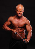 Bodybuilder with chain Royalty Free Stock Images