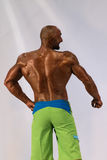 Bodybuilder On A competition For The Win Stock Image