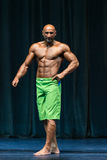 Bodybuilder On A competition For The Win Royalty Free Stock Photos