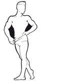 Bodybuilder Contorno del vector Fotos de archivo libres de regalías